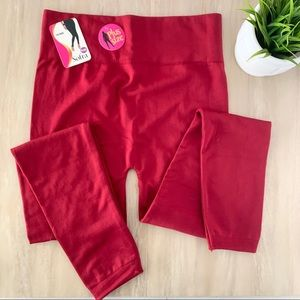 Softa maroon one plus size leggings